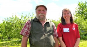 Michael Phillips, author of The Apple Grower and The Holistic Orchard, and Marieka Chaplin of Sandow Farm.